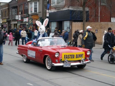 DeClute Real Estate Escorting Bunny of Honor, Toronto Beaches Easter Parade